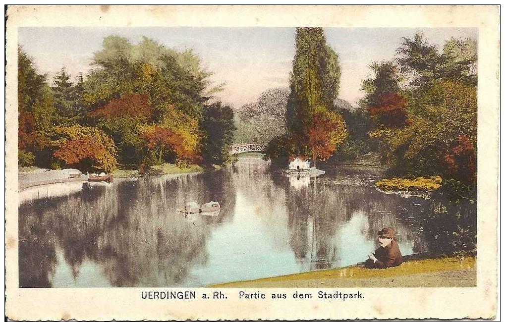 PLZ 47829 - UERDINGEN Am Rhein - Partie Aus Dem Stadtpark - Krefeld
