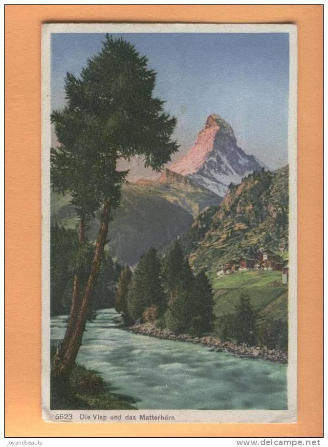 A051,Die Visp, Matterhorn, Mazot, Cabane, Chalet, 5523, Circulée 1919 ? - VS Valais