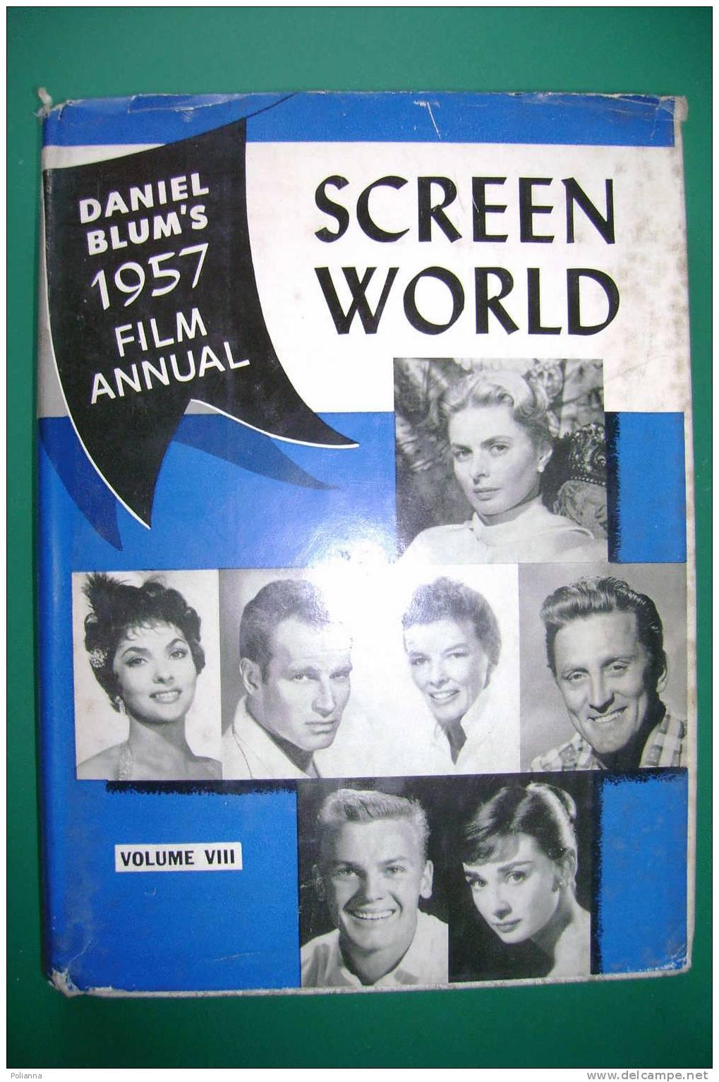 PDI/7 Daniel Blum's 1957 FILM ANNUAL SCREEN WORLD V.VIII/Ingrid Bergman/Humphrey Bogart/Marylin Monroe/Elvis Presley - Films
