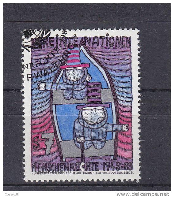 NATIONS  UNIES  VIENNE   1983  N° 36   OBLITERE    CATALOGUE YVERT - Centre International De Vienne