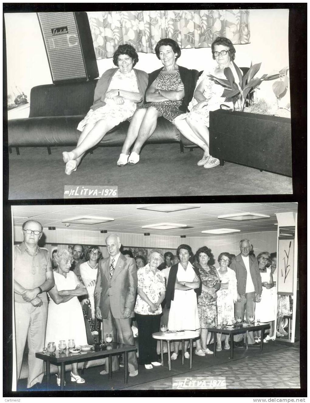 8 PHOTOGRAPHIES : UNION FRANCO-SOVIETIQUE A BORD DU PAQUEBOT LITVA 1976 GREEN COAST BATEAU RUSSIE RUSSIA SIBERIE - Barcos