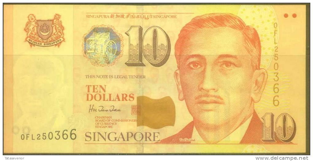 Singapore 10 Dollars Note, P40, UNC - Singapore