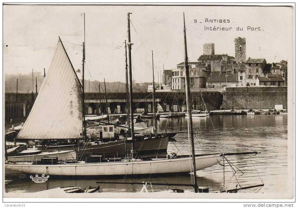 CPSM  ANTIBES  Intérieur Du Port  1932              Y5/1070 - Antibes