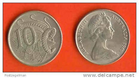 AUSTRALIA 1966-84 10 Cent Copper-Nickel KM65 C322 - Decimal Coinage (1966-...)