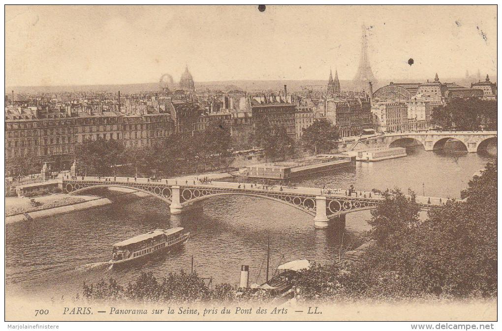 CPA PARIS. - Panorama Sur La Seine, Pris Du Pont Des Arts . - LL N° 700 - District 01