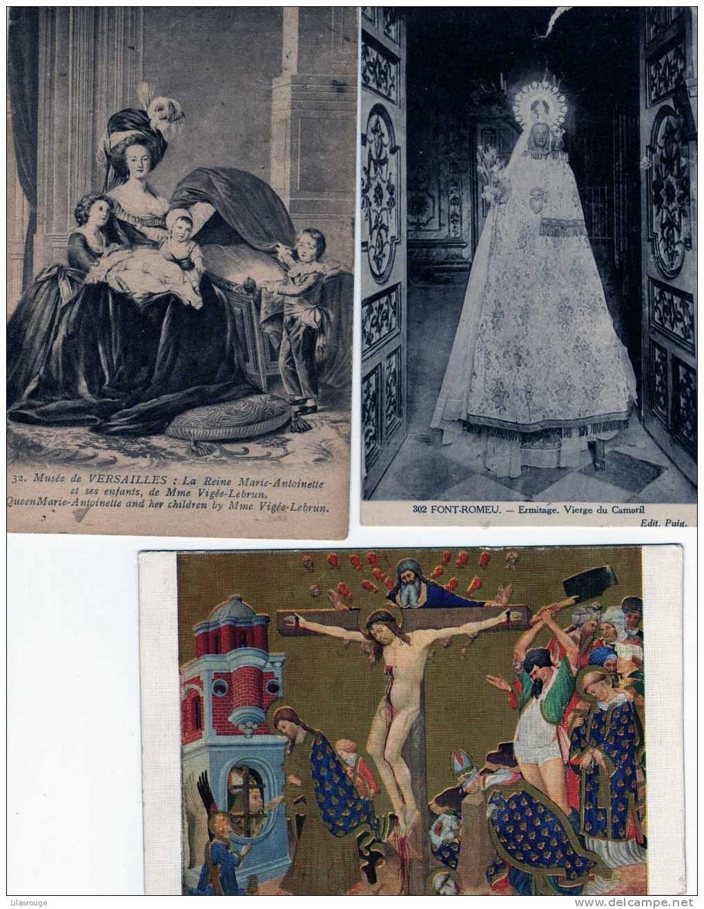 LOT DE 3 CARTES DONT UNE ECRITE EN 1912  CELLE DU MUSEE DE VERSAILLES - 5 - 99 Postcards