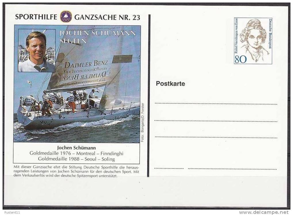 Olympic Games Germany 1996 Ganzsache #23 Atlanta MNH ** Yacht Jochen Schumann Montreal Seoul - Summer 1996: Atlanta
