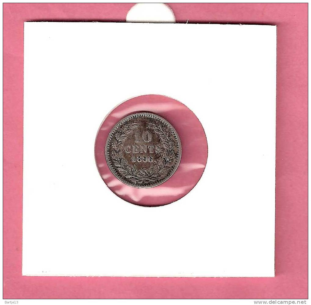 NEDERLAND 10 CENT 1896 WILHELMINA LANG HAAR Mooie Kwaliteit Voor Dit Type/ - [ 3] 1815-… : Regno Dei Paesi Bassi