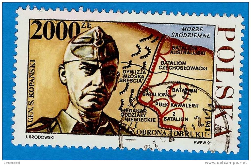 1. 748 - 1991 - POLOGNE  N°3153  Oblitéré - 1944-.... République