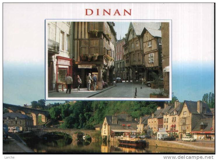 Dép. 22 - DINAN. - La Rue De L´apport Et Le Port. Editions D´Art Jack - Dinan