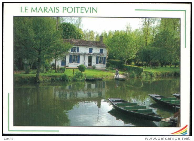 Dép.79 - Le Marais Poitevin. - La Maison Bleue Maraîchine. Animation, Barque. Ed. COMPA N° 79 - France