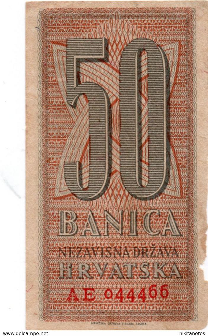 Banknote Croatia 50 Banica 1942 F VF - Croatia
