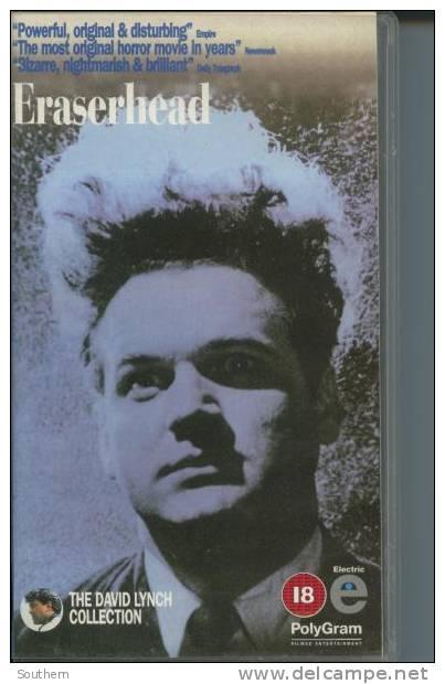 "K7 Vidéo VHS Secam  David Lynch  "" Eraserhead ""  1995  En Anglais - Horreur"