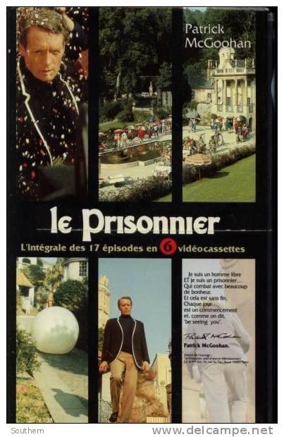 """K7 Vidéo VHS Secam  """" Le Prisonnier """" Intégrale En Coffret De 6 Cassettes - Horreur"""