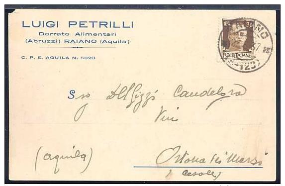KA797  RAIANO - COMMERCIALE LUIGI PETRILLI , DERRATE ALIMENTARI - Italie