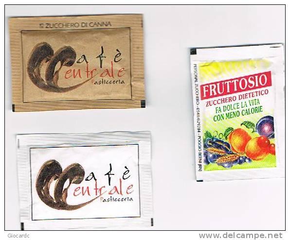 PERSONAL - 3 BUSTINE DIVERSE DI ZUCCHERO (SUGAR) -  CAFE' CENTRALE PASTICCERIA - FANO (PS) - Sugars