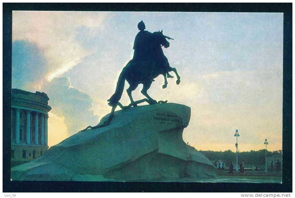 LENINGRAD - MONUMENT - PETER I '' BRONZE HORSEMAN '' - Russia Russie Russland Rusland 90348 - Monuments