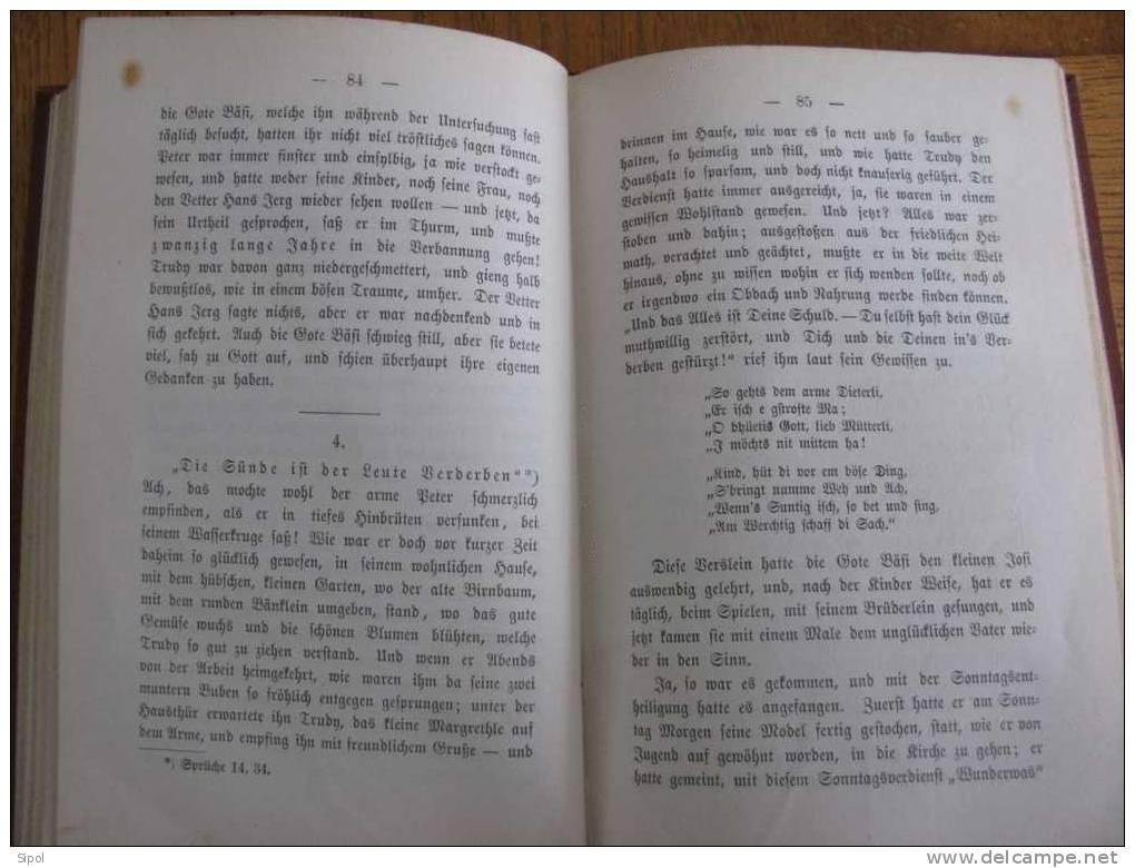 Elsässische Lebens-Bilder -MargarethaSpörlin - Basel 1875 Verlag Von F.Schneider - Ohne Zuordnung