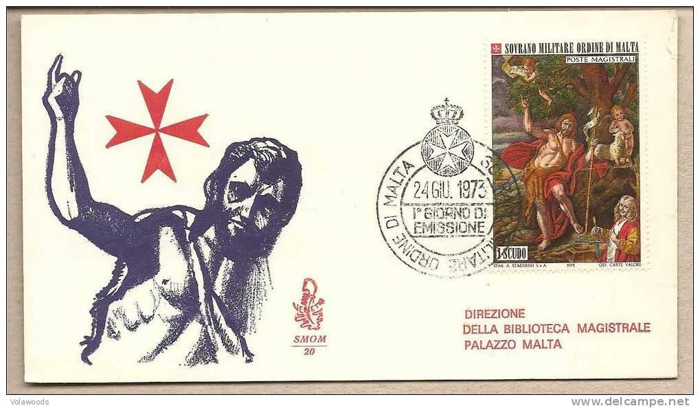 SMOM - Busta FDC Con Serie Completa: San Giovanni Battista - 1973 - Venetia - Malte (Ordre De)
