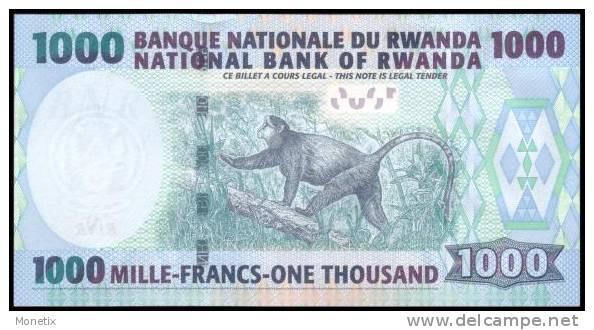 Rwanda #new 1000, 1.000 Francs, 2008, UNC - Ruanda