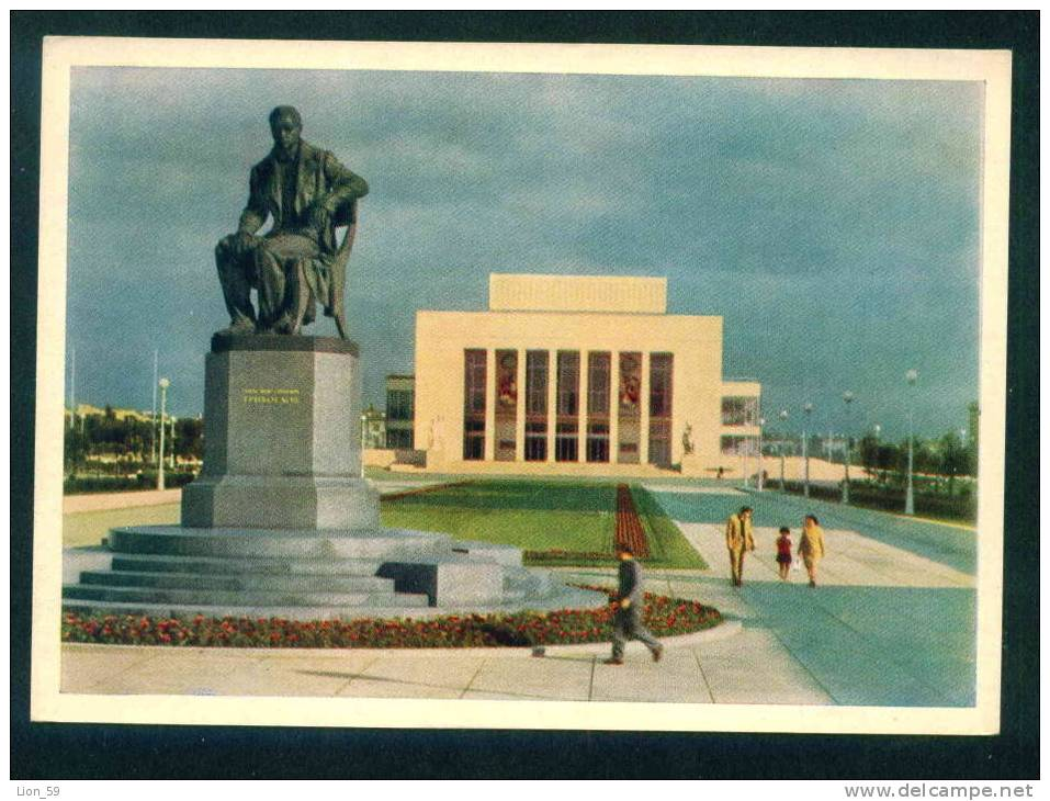 LENINGRAD - MONUMENT A. S. GRIBOYEDOV ANT STATE THEATRE FOR CHILDREN - Russia Russie Russland Rusland 90403 - Monuments