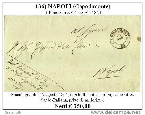 Capodimonte 00136 - Piego (senza Testo). - Storia Postale
