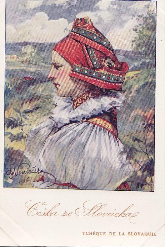 Slovaquie -  Femme Tchèque De Slovaquie   - Illustrateur Artist  - Costume - Slovaquie