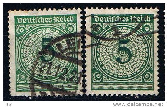 DR 1924, Mi. Nr. 339 A + B Gestempelt Nicht Geprüft - Used Stamps