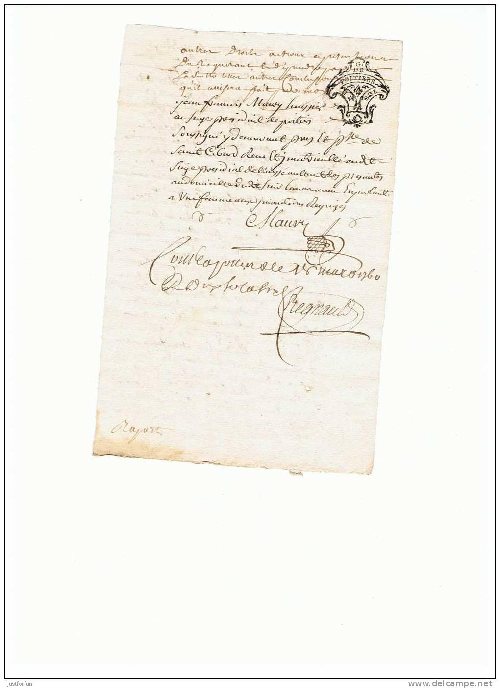 PARCHEMIN  ..... 1760 - Manuscripts