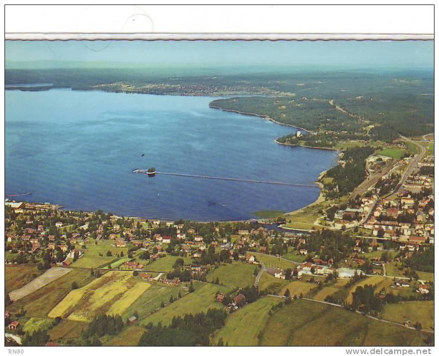 DALARMA - Rättvik .Flygbild över Lerdal - Suède
