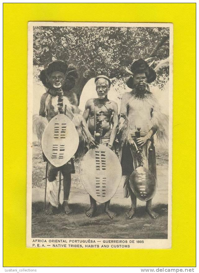 .... Xx POSTCARD MOZAMBIQUE OLD BLACK WARRIORS AFRICA MOÇAMBIQUE AFRIQUE - Mozambique
