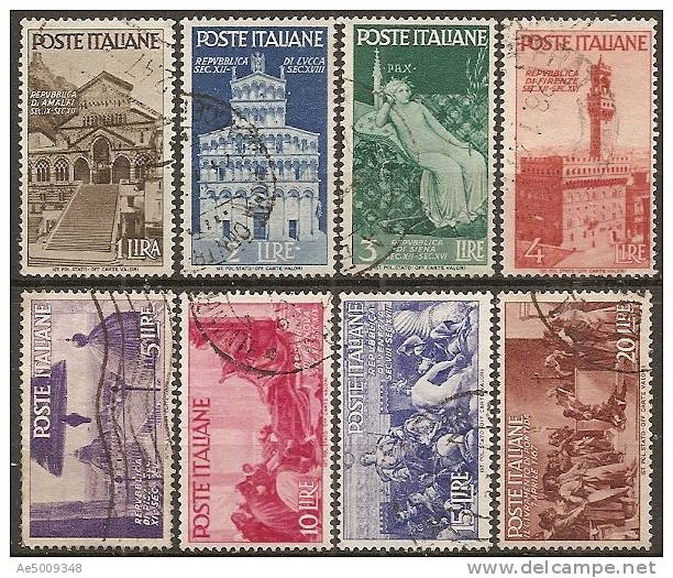 ITALIE -- N°504 à 511   Serie Complete Obliterée -- 1946 - 1946-60: Gebraucht
