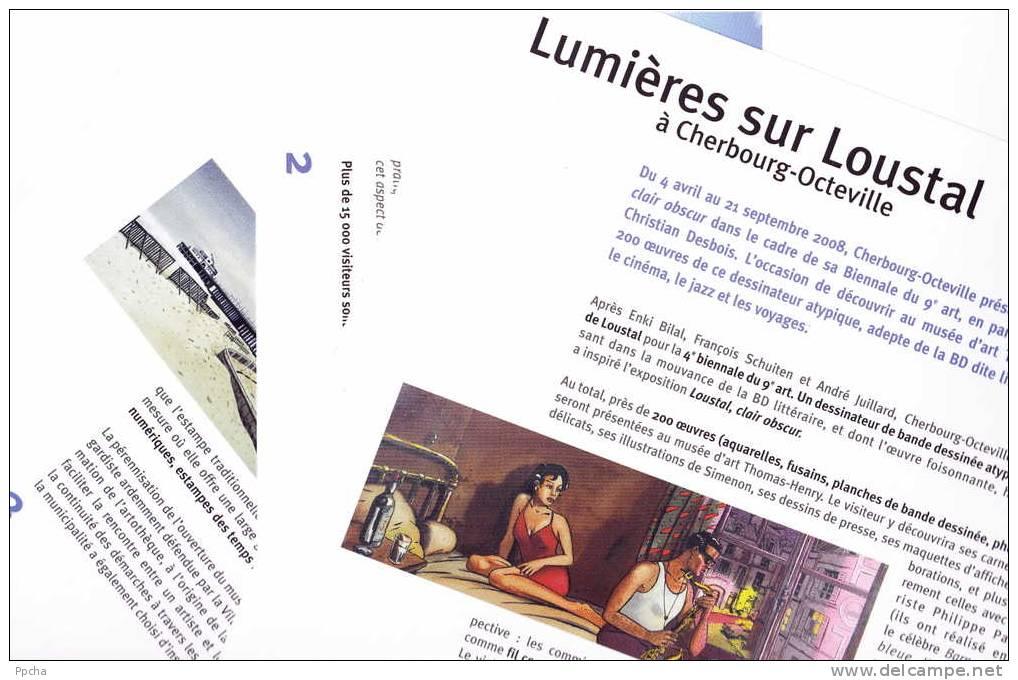 LOUSTAL BD Clair Obscur 4e Biennale Du 9e Art Cherbourg COLLECTOR Dossier De Presse Press Kit MAGNIFIQUE !!! - Livres, BD, Revues
