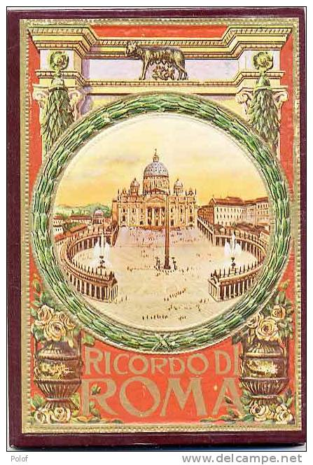 Ricordo Di ROMA - Livret Gaufre De Luxe Cartonne -avec Depliants - 32 Vues ( VP 395) - Livres, BD, Revues