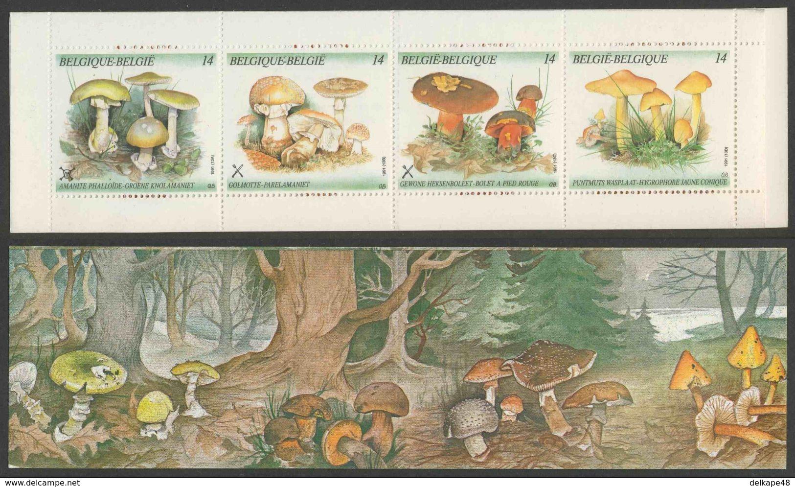 Belgie Belgique Belgium 1991 MH32 Mi 2470-2473 ** Amanita Phalloides, Amanita Rub., Boletus Erythropus, Hygrocybe Persis - Paddestoelen