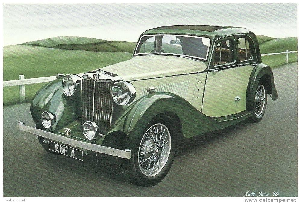 MG TWO LINE SA (1938) CLASSIC CARS COLOUR POSTCARD - Motorsport