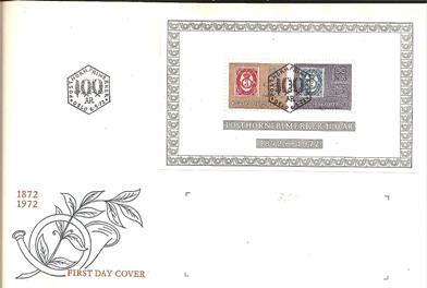 Norwegen XX001 / Block-FDC, 100 Jahre Posthornmarke Von Norwegen - FDC