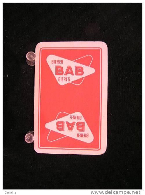 Carte A Jouer  1 Dos De Cartes De La Brasserie-Brouwerij - Aigle-Belgica, Brugge  - BAB 400   .- - Cartes à Jouer
