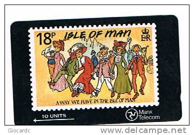 ISLE OF MAN - MANX TELECOM GPT - STAMPS SERIES (A WAY WE HAVE IN THE I.O.M.) CODE 6IOMB - USED (USATA)- RIF. 7736 - Isola Di Man