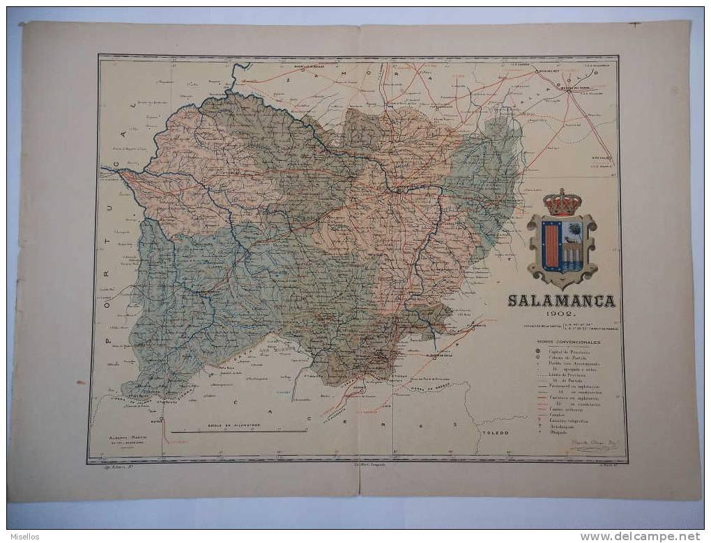 Lote Mapas Castilla Leon : Avila + Burgos + Leon + Palencia + Salamanca + Segovia + Soria + Valladolid Y Zamora - Mapas Geográficas