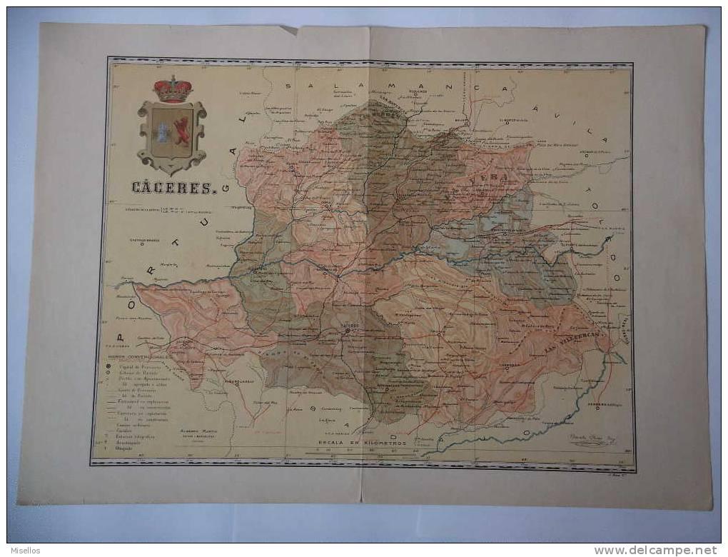 Lote Mapas Extremadura: Caceres Y Badajoz - Mapas Geográficas