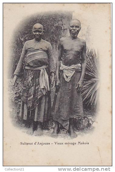 COMORES ... SULTANAT D ANJOUAN ... VIEUX MENAGE MAKOIS - Comores