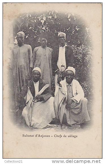 COMORES ... SULTANAT D ANJOUAN ... CHEFS DE VILLAGE - Comores