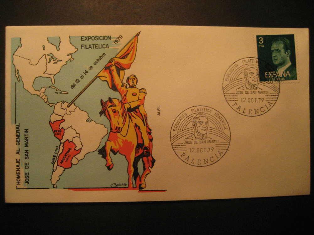 SPAIN Palencia Castilla 1979 Event Cancel Colon Columbus Caravel America Discouver Hispanidad - Cristoforo Colombo