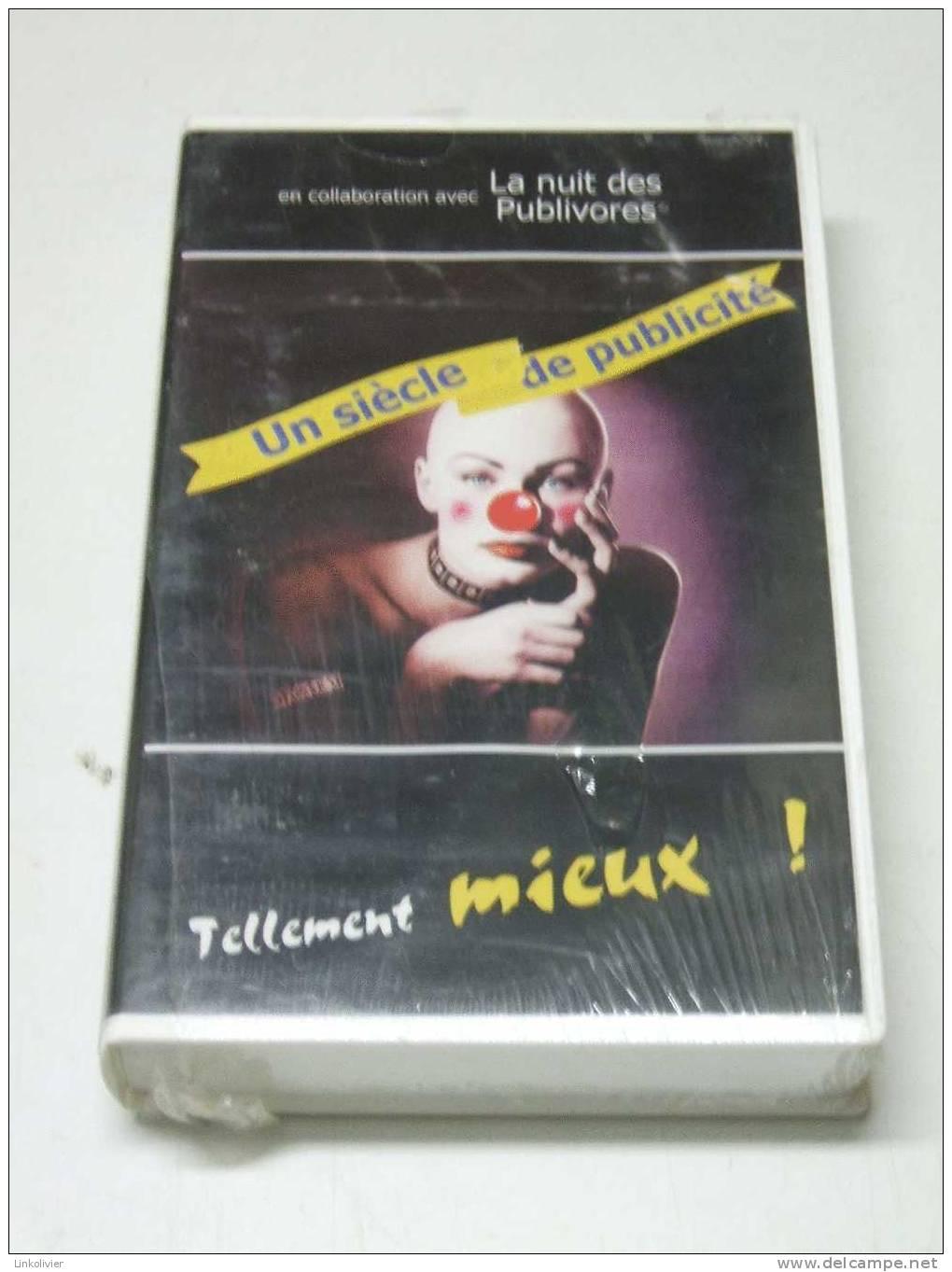 """K7 Vidéo VHS Cassette """"UN SIECLE DE PUBLICITE""""  - La Nuit Des Publivores - Neuve - Documentaires"""