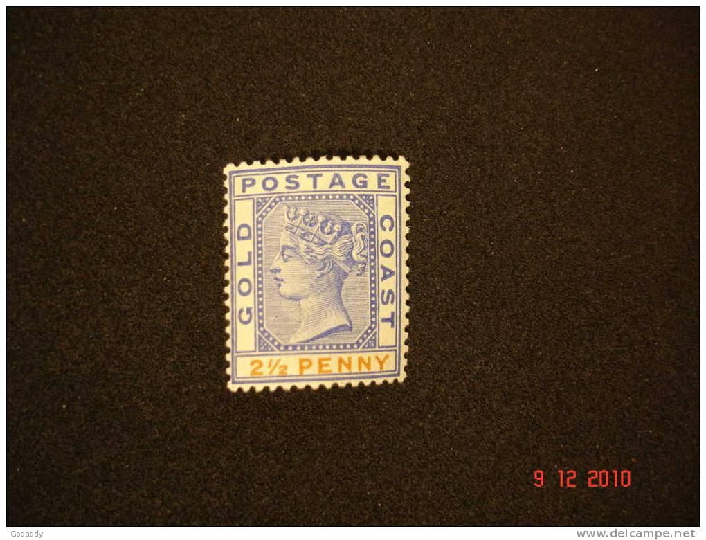 Gold Coast 1891 Q. Victoria  21/2d  SG14  MH - Gold Coast (...-1957)