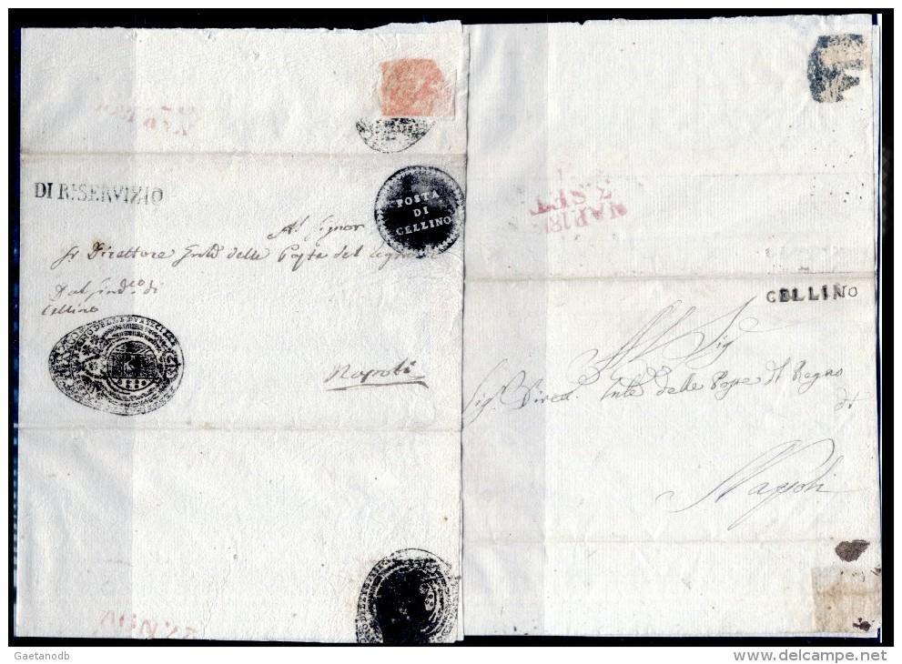 Cellino-00217 - Due Pieghi (senza Testo) Con Le Rare Bollature Postali. - Italia