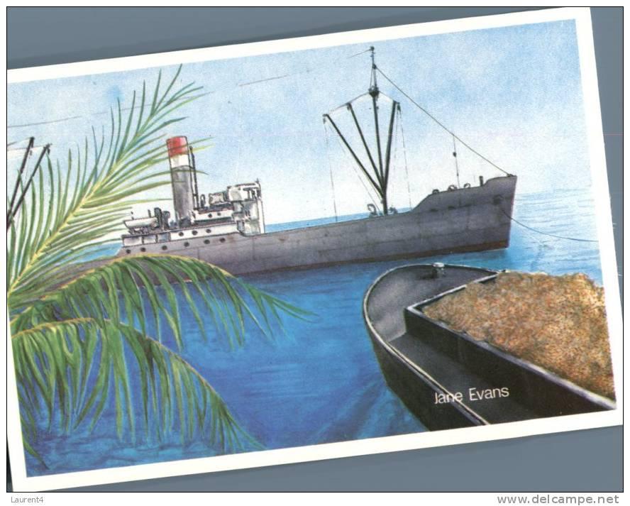 (880)  Nauru Phosphate Mining Ship - Nauru