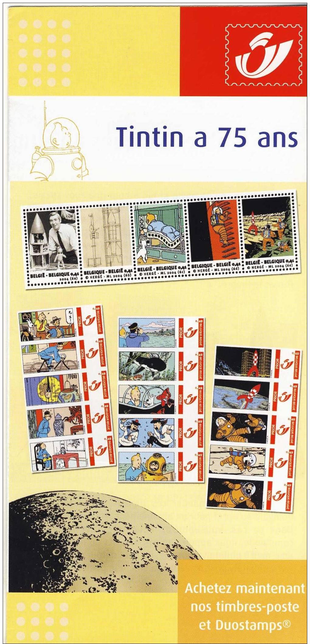 Tintin. Kuifje. La Poste - Advertising