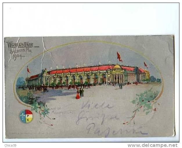 015279  CPA  -  WORLD'S FAIR   St Louis . MO  Place Of Manufactures   -  1904  Art Nouveau & Litho - St Louis – Missouri